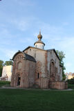 Destroyed church in Velikiy Novgorod Stock Photo