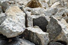 Destroyed concrete Stock Photo