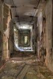 Destroyed corridor Royalty Free Stock Photo