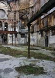 Destroyed decaying Religious building ruin Royalty Free Stock Photos