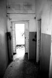Abandoned house. Destroyed, devastated a large abandoned house Stock Photo