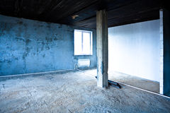 Destroyed dirty interior Stock Photo