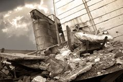 The destroyed factory - 2 Royalty Free Stock Image