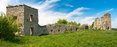 Destroyed fortress in Kudriyntsy, 17th century, Ukraine Stock Image