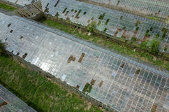 Destroyed greenhouses Royalty Free Stock Images
