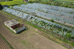 Destroyed greenhouses Royalty Free Stock Photography