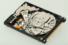 Destroyed hard disk drive Royalty Free Stock Photos