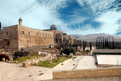 Destroyed the holy places of Jerusalem Stock Photos