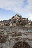 Destroyed homes in  Far Rockaway. NEW YORK - October 31:Destroyed homes in  Far Rockaway after Hurricane Sandy October 29, 2012 in New York City, NY Stock Image