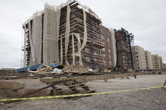 Destroyed homes in  Far Rockaway. NEW YORK - October 31:Destroyed homes in  Far Rockaway after Hurricane Sandy October 29, 2012 in New York City, NY Stock Images