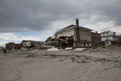 Destroyed homes in  Far Rockaway Royalty Free Stock Photo