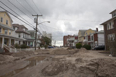 Destroyed homes in  Far Rockaway Stock Images