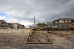 Destroyed homes in  Far Rockaway Royalty Free Stock Photos