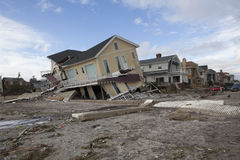 Destroyed homes in Far Rockaway after Hur Stock Photo