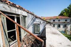 Destroyed hotel in Kupari Royalty Free Stock Photos