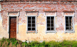 Destroyed house Royalty Free Stock Images
