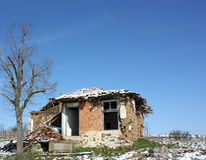 A destroyed house Royalty Free Stock Image