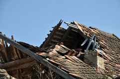 Destroyed house Royalty Free Stock Photos