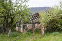 Destroyed house in Abkhazia Royalty Free Stock Photo