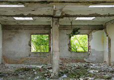 Destroyed house interior Royalty Free Stock Photography