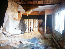 Destroyed house room ruins Royalty Free Stock Photography