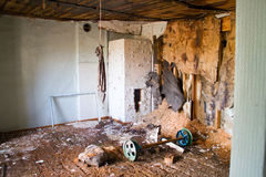 Destroyed house room ruins Stock Images