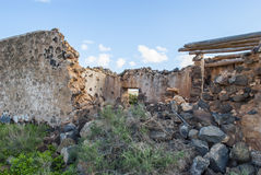 Destroyed houses after earthquake Royalty Free Stock Photo