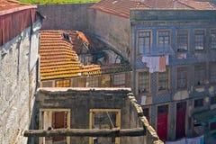 Destroyed houses, Porto, Portugal Stock Photos
