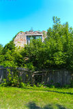 Destroyed houses in which people lived Royalty Free Stock Photos