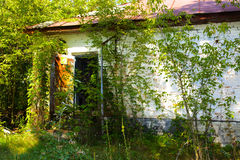 Destroyed houses in which people lived Royalty Free Stock Images