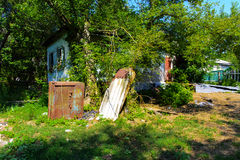 Destroyed houses in which people lived Stock Photography