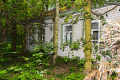 Destroyed houses in which people lived Royalty Free Stock Image