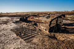 Destroyed infantry fighting vehicle Royalty Free Stock Photo