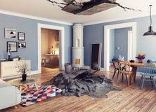 Destroyed interior Stock Photos