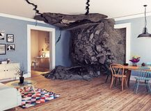 Destroyed interior Stock Photography