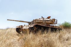Free Destroyed Israeli Tank Is After The Doomsday Yom Kippur War On The Golan  Heights In Israel, Near The Border With Syria Stock Image - 151412751