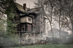 Destroyed old building. In city of Kralupy in Czech republic Stock Photo