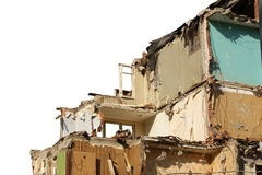 Destroyed the old house.  on white Royalty Free Stock Images