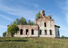 Destroyed old orthodox church Royalty Free Stock Photo