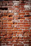 Destroyed Old red Brick wall Royalty Free Stock Photography