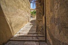 Destroyed old stairs. The destroyed old stairs in Girona , Spain royalty free stock image