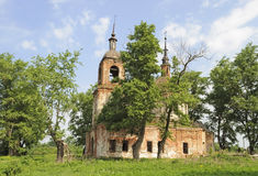 Destroyed Orthodox Church Royalty Free Stock Images