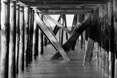 Destroyed Pier Stock Images