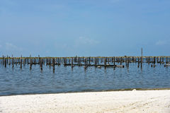 Destroyed Pier and Boat Dock Stock Photos