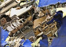 Destroyed plane stock photography