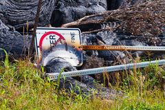 Destroyed sign Royalty Free Stock Images