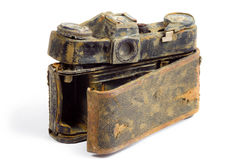 Destroyed SLR camera Stock Photo