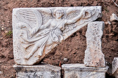 Destroyed statue in Ephesus. This image was taken in Ephesus, Turkey. Nike logo inspired by her Stock Photo