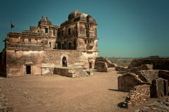 Destroyed structure of historical Hindu temple in India Royalty Free Stock Photography