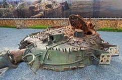 Destroyed tank turret Royalty Free Stock Photo